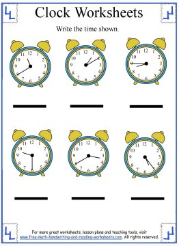 Write The Time To The Nearest Five Minutes Worksheet 2