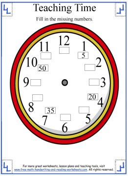 Teaching Time - Five Minutes