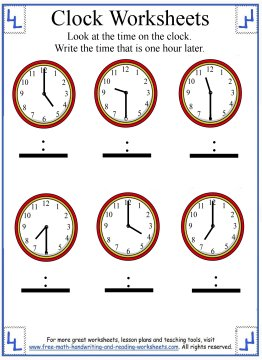 telling time worksheet 3