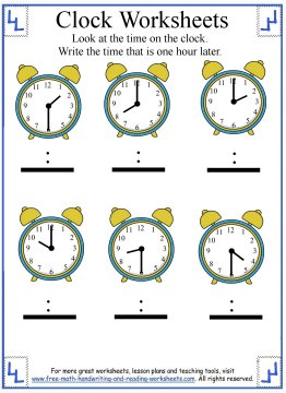 telling time worksheet 4