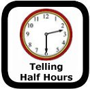 telling half hour time worksheets