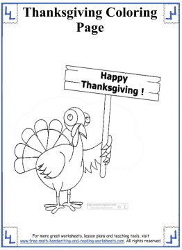 thanksgiving coloring page 7