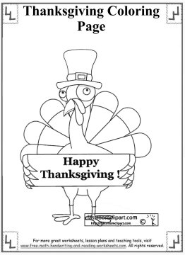 thanksgiving coloring page 8