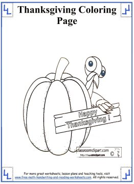 thanksgiving coloring page 9