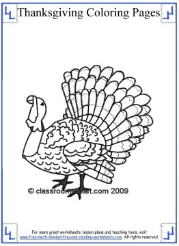 thanksgiving coloring page 3