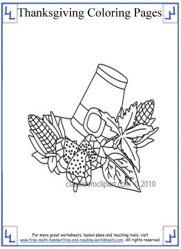 thanksgiving coloring page 6