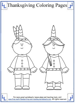 thanksgiving coloring math pages - photo#30