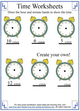 time worksheets 3