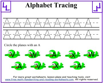 tracing letters 1