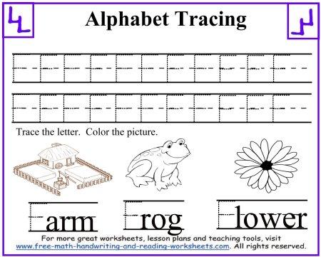 Number Names Worksheets uppercase letter tracing worksheets : Tracing Letters - Uppercase A-F