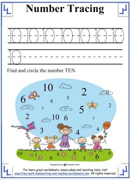 tracing numbers 5