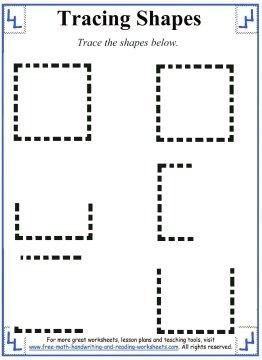tracing shapes 3