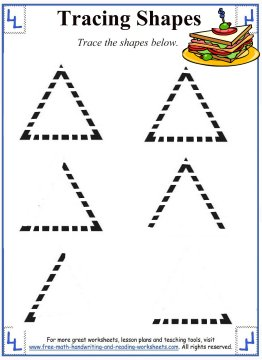 Tracing Shapes - Worksheets and Activities