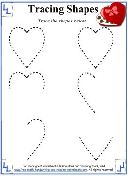 Tracing Shapes Worksheets And Activities