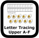 tracing uppercase letters A-F
