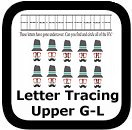 tracing uppercase letters G-L
