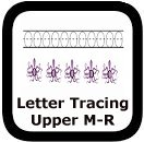 tracing uppercase letters M-R