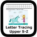 tracing uppercase letters S-Z