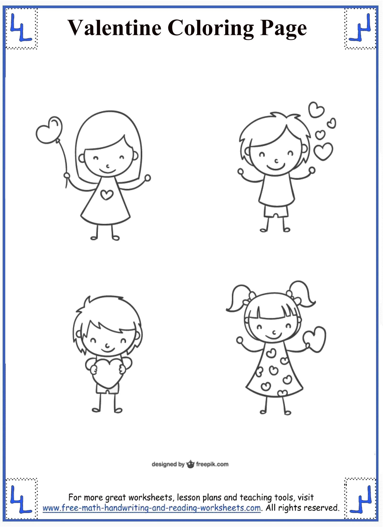 valentine coloring pages 1