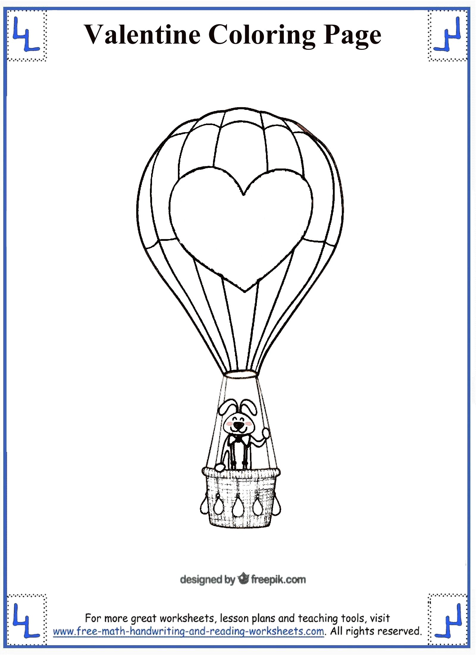 valentine coloring pages 5