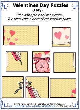 Valentine Puzzles Prek 4th Grade Activities