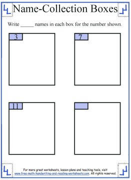 name collection box worksheet 2