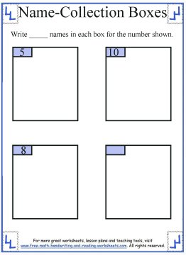 name collection box worksheet 1