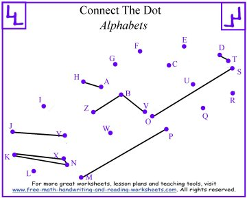 Alphabet Connect the Dots Worksheets (Free Printables)