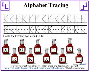 alphabet tracing 5