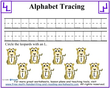 alphabet tracing 6
