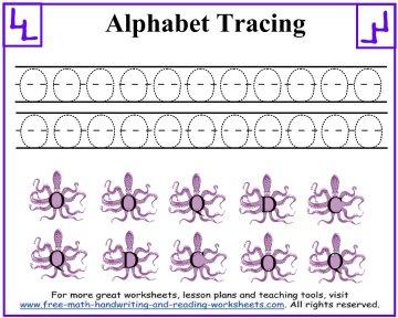 alphabet tracing worksheets 3