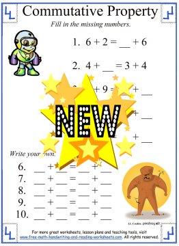 math worksheet : commutative property addition worksheets 3rd grade  : Commutative Property Of Addition Worksheets 3rd Grade