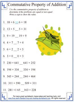 commutative property of addition 3