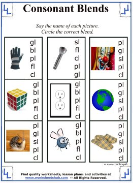 Consonant Blends Worksheets Amp Lessons
