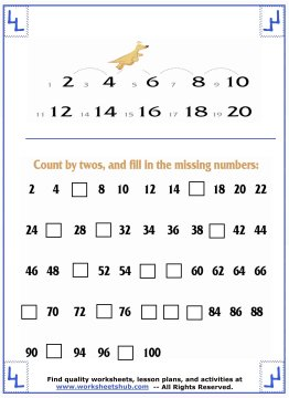counting by twos 3