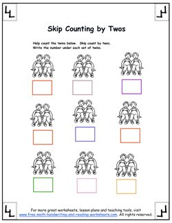 counting by twos worksheet 1