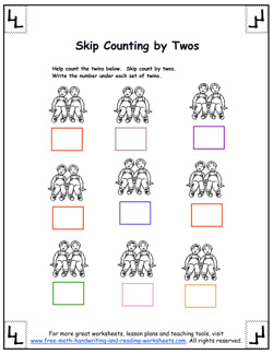 counting by twos 1