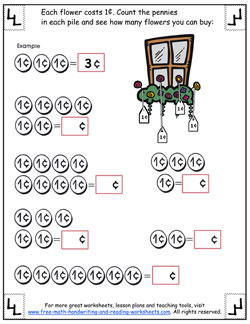 counting pennies worksheet 2