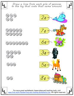 counting pennies worksheet 4