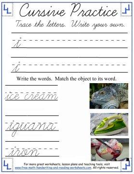 cursive handwriting sheets 3