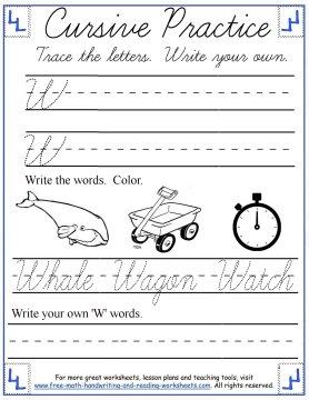 Cursive Handwriting Worksheets Uppercase SZ