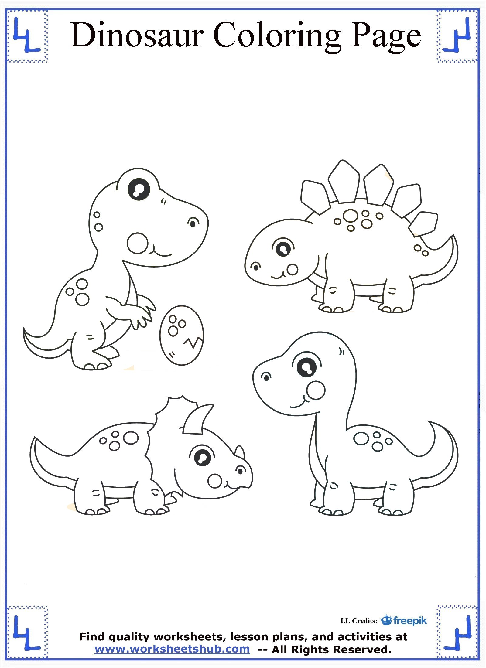 Dinosaur coloring pages Coloring book for kindergarten pdf