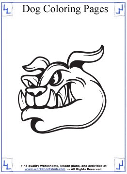 dog coloring pages 10