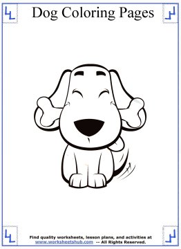 dog coloring pages 11