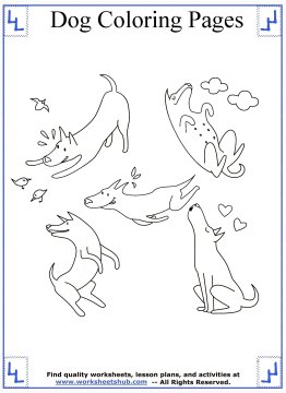 dog coloring pages 12