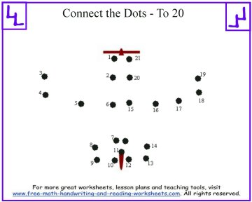 airplane dot to dot kids puzzle
