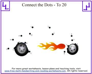 hot rod dot to dot kids puzzle
