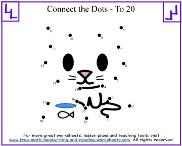 kitty dot to dot kids puzzle