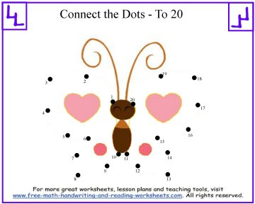 butterfly dot to dot kids puzzle