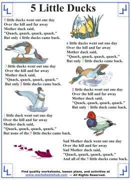 five little ducks song